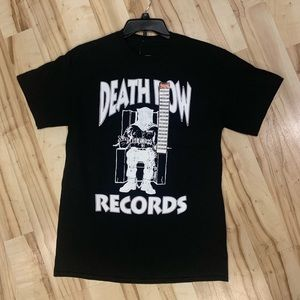 Men Death Row Black Tee Sz M